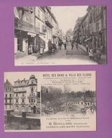 LUXEUIL LES BAINS  70  (  LOT DE 2 CARTES )  LA RUE CARNOT - Luxeuil Les Bains