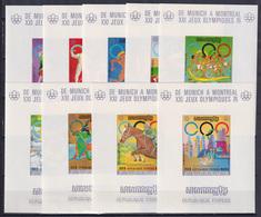 CAMBODIA 1975, Mi# 407B-415B, Deluxe Blocks, Sport, Olympics Montreal - Estate 1976: Montreal