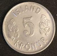 ISLANDE - ICELAND - 5 KRONUR 1974 - KM 18 - ISLAND - Islande