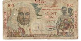 Billet 100 - Cent Francs Départements D'outre-mer - Guadeloupe, Guyane , Martinique - Contre- Valeur De 1 Nouveau Franc. - Banknotes