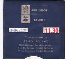ROUBAIX ,,,,PEUGEOT  TALBOT  ROUBAIX ,,,,DISQUE DE STATIONNEMENT ,,, TBE - Voitures