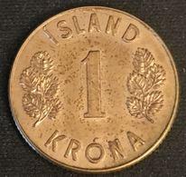 ISLANDE - ICELAND - 1 KRONA 1971 - KM 12a - ISLAND - Islande