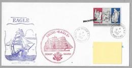 """Tir- VOILES De La LIBERTE - ROUEN  1989 - Cachets """" USCGC  EAGLE"""" Sur Enveloppe Du 14.7.1989. ( 1ère Date Sur Ce Timbre) - Postmark Collection (Covers)"""