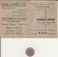 """Calendrier Publicitaire 1955 """"porquet Evens"""" Lille - Calendriers"""