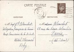 Guerre 39 45 Expéditeur Délégation Française Turin Auprès Commission Italienne D'armistice Avec France Entier Petain - Marcofilia (sobres)
