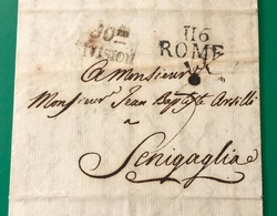 1812 ROMA PER SENIGALLIA - ...-1850 Préphilatélie