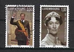 Luxemburg 2010, Nr. 1852-1853, 10. Jahrestag Der Thronbesteigung Von Erbgroßherzog Henri, Gestempelt Luxembourg - Used Stamps