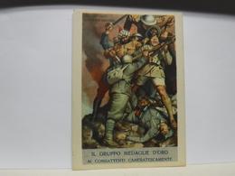 CARTOLINA DI FRANCHIGIA  MILITARE II GUERRA  --- ILL  GINO BOCCASILE  --     DUE SONO CADUTI ECC. - War 1939-45