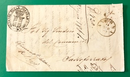 1861 ANCONA COMANDO DI PIAZZA PER SASSOFERRATO - ...-1850 Préphilatélie