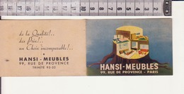 Calendrier Publicitaire 1946- Meubles Hansi - Calendriers