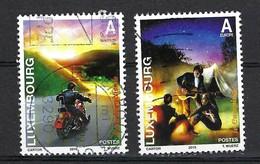 Luxemburg 2010, Nr. 1865-1866, Spaß Und Freiheit, Motorradfahren, Camping Gestempelt Luxembourg - Used Stamps