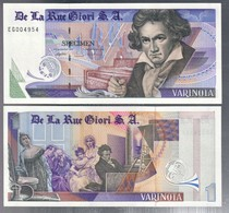DE LA RUE GIORI S.A. VARINOTA FDS Unc PROVA DI STAMPA Beethoven  Lotto.3221 - [ 2] 1946-… : Repubblica
