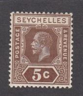 Seychelles 1917  5c    SG84   MH - Seychelles (...-1976)