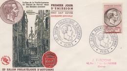 Enveloppe  FDC  1er  Jour    FRANCE   Gérard   DE  NERVAL  Salon  Philatélique  D' Automne   PARIS  1955 - 1950-1959