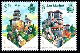 "SAN MARINO EUROPA 2017 ""Castles"" Set Of 2v** - 2017"