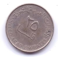 UNITED ARAB EMIRATES 1998: 25 Fils, KM 4 - Emirats Arabes Unis