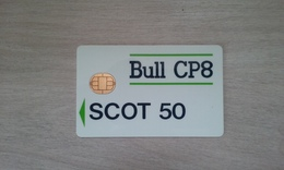 TRES ANCIENNE CARTE A PUCE BULL CP8 SCOT 50 PAS COURANT !!! - France