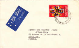 AUSTRALIE - 1968 - Lettre Par Avion Pour La France -  Noël - 1966-79 Elizabeth II