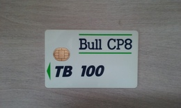 TRES ANCIENNE CARTE A PUCE BULL TB 100 PUCE N°1 PAS COURANT !!! - France