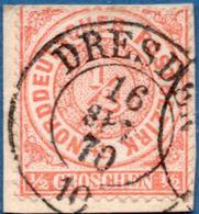 "NDP German Confederation 1869 ½ Gr 2-ring Cancel ""Dresden 10"" 2005.0504 - North German Conf."