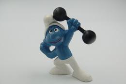 Smurfs Nr 20020#1 - *** - Stroumph - Smurf - Schleich - Peyo - Bodybuilder - Gym - Fitness - Schtroumpfs (Los Pitufos)