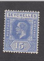 Seychelles 1917  15c    SG87    MH - Seychelles (...-1976)