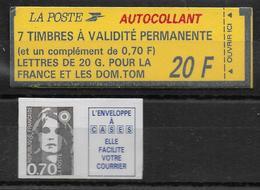 BRIAT - 1993 - CARNET YVERT N° 1503 Avec COMBINAISON VARIABLE - CARNET FERME - 1989-96 Marianne Du Bicentenaire