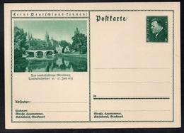 """ALLEMAGNE - III REICH - MERSEBURG /1932 ENTIER POSTAL ILLUSTRE  """"LERNT DEUTSCHLAND KENNEN"""" (ref 7702b) - Postwaardestukken"""