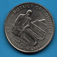 "USA ¼ Dollar ""Washington Quarter"" 2009 D  District Of Columbia KM# 445 - 1999-2009: State Quarters"