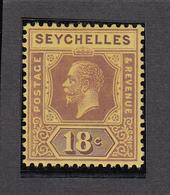 Seychelles 1917  18c    SG88    MVLH - Seychelles (...-1976)