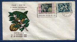 Afrique Occidentale - FDC - Premier Jour - Réunion Internationale Banane Café - Abidjan - 1960 - A.O.F. (1934-1959)