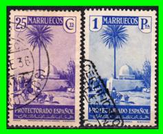 MARRUECOS ( PROCTECTORADO ESPAÑOL ) 1935-1937 - SELLOS  ( SERIE VISTAS Y PAISAJES  ) - Spanish Morocco