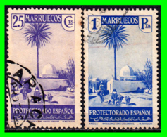 MARRUECOS ( PROCTECTORADO ESPAÑOL ) 1935-1937 - SELLOS  ( SERIE VISTAS Y PAISAJES  ) - Maroc Espagnol