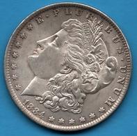 USA 1 DOLLAR 1884 O Morgan Dollar Silver 0.900 Argent  KM# 110 - Federal Issues