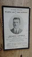 WWI Guerre 1914-1918 : Faire Part De Deces Septembre 1918, Medaille Militaire, Brancardier ................ 4913 - Décès