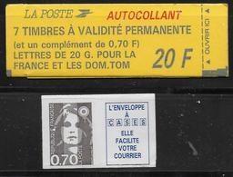 BRIAT - 1993 - CARNET YVERT N° 1503 Avec COMBINAISON VARIABLE - CARNET FERME - Carnets