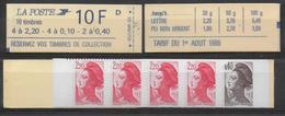LIBERTE DE GANDON - 1986 - CARNET YVERT N° 1501 Avec COMBINAISON VARIABLE - CARNET VENDU FERME ! - Carnets