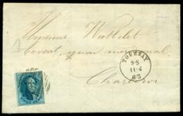 België 1863 Brief Van Tournay Naar Charleroi Met OPB 11 - Belgique