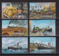 Guernsey 2006, Trains Ans Ships, Complete Set MNH. Cv 9 Euro - Guernesey