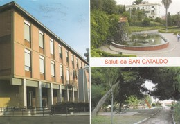 SAN CATALDO /  Saluti Con Vedutine _ Viaggiata - Caltanissetta