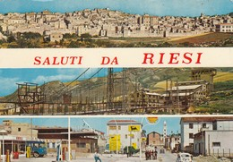 RIESI /  Saluti Con Vedutine _ Viaggiata - Caltanissetta