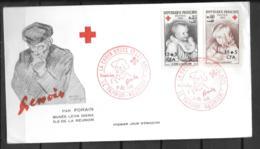 1965 - 2 - 366 + 367 - Croix Rouge - Reunion Island (1852-1975)