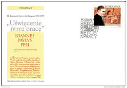 POLONIA - 2000 POZNAN Annullo Fdc S. JOSE' MARIA ESCRIVA', Canonizzato Nel 2002 Da Papa Giovanni Paolo II - 1210 - Papas