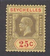 Seychelles 1917  25c    SG89b   MH - Seychelles (...-1976)