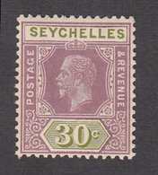 Seychelles 1917  30c    SG90   MH - Seychelles (...-1976)
