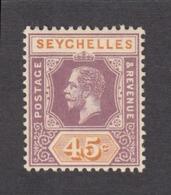 Seychelles 1917  45c    SG91   MH - Seychelles (...-1976)