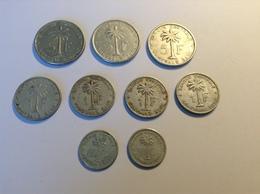 Belgisch Congo Lot Van 9 Verschillende Munten Boudewijn I - Congo (Belga) & Ruanda-Urundi