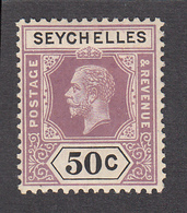 Seychelles 1917  50c    SG92   MH - Seychelles (...-1976)