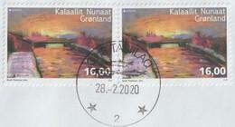 Groenland 2020. 2 Timbres Europa Oblitérés - Autres