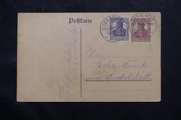 ALLEMAGNE - Entier Postal + Complément De Liebschütz Voyagé , à Voir - L 60115 - Ganzsachen